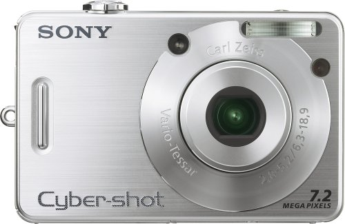 Sony Cybershot DSCW70 7.2MP Digital Camera with  3x Optical Zoom