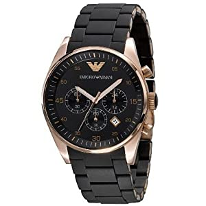 Armani Chronograph Bracelet Black Dial Men's Watch - AR5905
