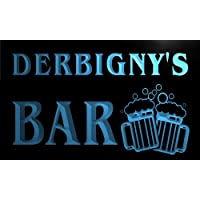w108856-b DERBIGNY Name Home Bar Pub Beer Mugs Cheers Neon Light Sign Barlicht Neonlicht Lichtwerbung