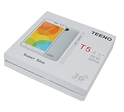"Teeno 4.5"" Quad Core High Performance 3G Dual SIM Smart Phone-White Colour"