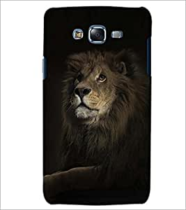 PrintDhaba LION SHADOW D-6764 Back Case Cover for SAMSUNG GALAXY ON7 (Multi-Coloured)