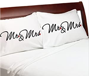 and Mrs Wedding Pillowcases, Wedding Gift Idea, Engagement or Bridal ...