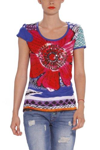 T Femme Bleu L Desigual Shirt y6vYgf7b