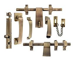 Klaxon Decent Brass Door Kit (Antique FInish)