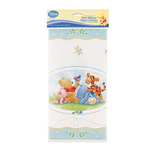 Winnie the Pooh Baby Shower Plastic Tablecover (Winnie Pooh Table compare prices)