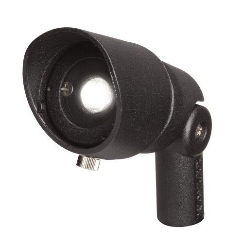 Kichler Lighting 16003Bkt27 Landscape Aluminum 12V/4-Watt 1-Diode Led 10-Degree Adjustable Spot Light, Textured Black