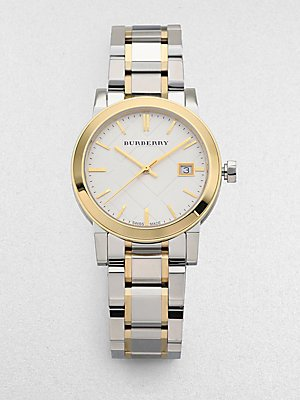 Burberry BU9115 Watch City Ladies - Silver Dial Stainless Steel Case Quartz Movement
