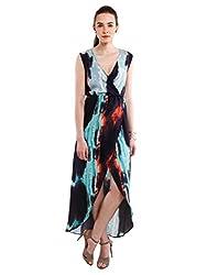 NUN Women's Wrap Dress (NUNDR5410_Multicoloured_XL)