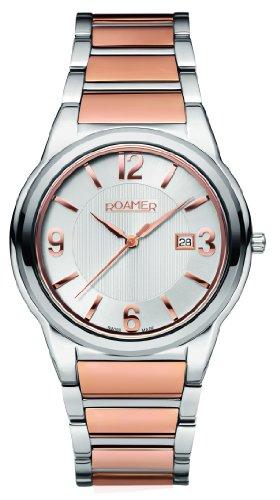Roamer 507980 49 15 90 - Orologio da polso uomo, acciaio inox, colore: argento