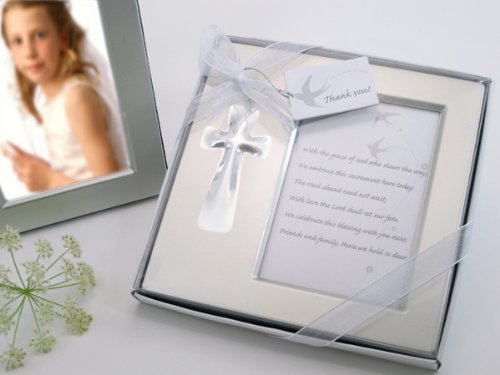 "Artisano Designs ""Bless this Day"" Cross Photo Frame Favor in Gift Box"