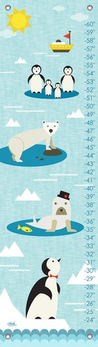 Oopsy Daisy Growth Charts Just Chillin' by Carmen Mok, 12 by 42-Inch