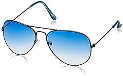 Buzz Aviator Unisex Sunglasses (1089-210|58|Blue lens)