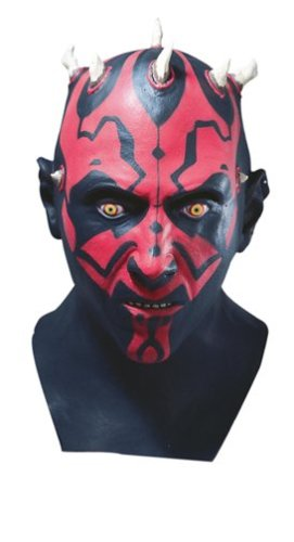 Maschera da adulto di Darth Maul Star Wars Originale In lattice