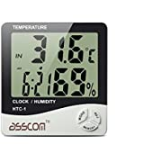 Weather Thermometers,Asscom® Indoor Humidity Thermometer Wall Mount Monitor Sensor Thermostat Home Office, digital indoor thermometer with memory (8003)