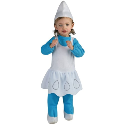 The Smurfs - Smurfette EZ On Romper Child Costume Size 2-4 Toddler