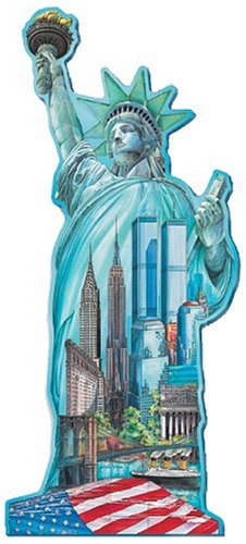 Cheap FX Schmid 1000pc. Statue of Liberty Shaped Puzzle (B00005S0JL)