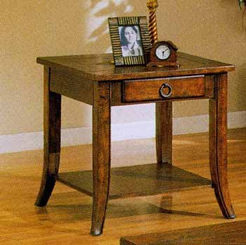 Cheap End Table With Slate Inlayed Top And A Drawer (B000BMZKRA)
