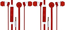 JIYANSHI combo of stylish earphone red Compatible with Microsoft Lumia 850