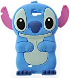 Lilo & Stitch Disney Samsung Galaxy Note 2 Note II N7100 3D Etui Housse en Silicone TPU Housse de Protection Souple Bleu