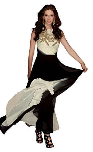 Heart & Soul Designer Wedding & Party Wear Fully Stitched Embroidery Designer Salwar Suits Dupatta L size for women(Black)