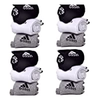 EASY4BUY Pack Of 12 Pairs Socks With Adidas Logo Sports Ankle Length Cotton Towel Socks