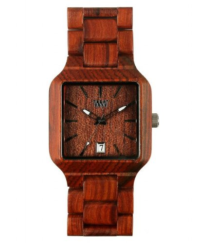 WeWOOD Unisex Metis Chocolate Analog Wooden Watch
