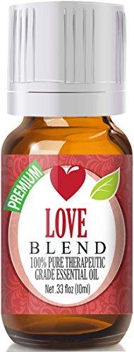 Love Blend 100% Pure, Best Therapeutic Grade Essential Oil - 10ml - Clary Sage, Patchouli, Geranium, Rose Bulgarian, Sweet Orange, Ylang Ylang