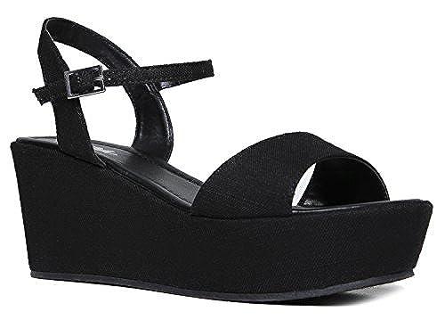 05. Women's Platform Sandal – Slip On Comfort Platform Wedge Open Peep Toe Fashion - Chunky Platform Ankle Strap Walking Shoe