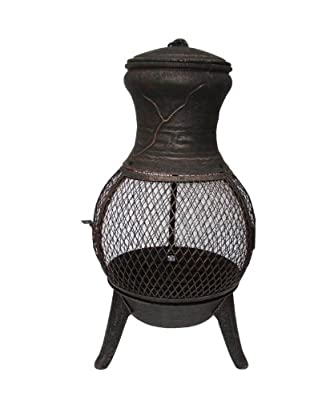 Palma Cast Iron Chimenea In Bronze from Cambs Valley Ltd.