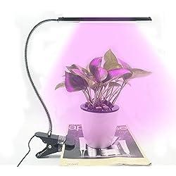 Luce LED 5W, regolabile, 3Livello dimmerabile, LED Clip lampada da scrivania, Morsetto collo flessibile 360° per coltivazione idroponica serra da giardino