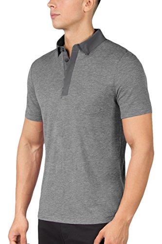 MPG Men's Eagle Polo T-Shirt 2XL Heather Charcoal