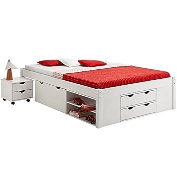 lit avec coffre de rangement 140x200