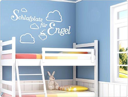 """'I-love-Wandtattoo-Adesivo da parete 11237adesivo da parete con scritta """"sonno spazio per angelo cameretta bambino adesivo da parete, turchese, 58 x 32 cm"""