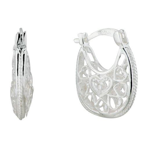 Pugster Bag Heart Sterling Silver Re Stud Earrings