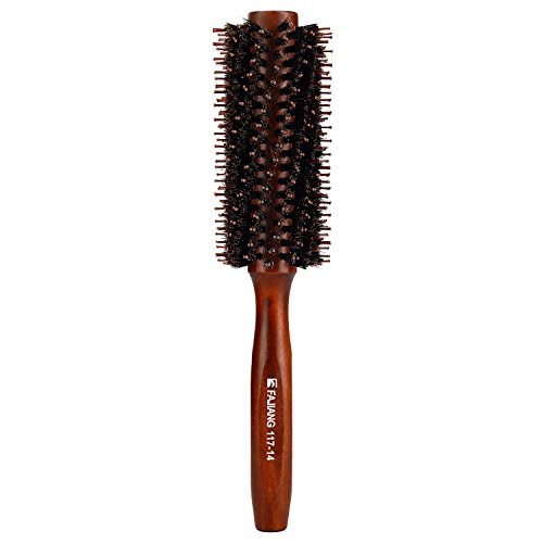 Mokale Natural Boar Bristle Round Comb Hair Brush with Ergonomic Natural Wood Handle,2.2 Inch,Styling Essentials for Hair Drying, Styling, Curling (Monster Hot Deals compare prices)