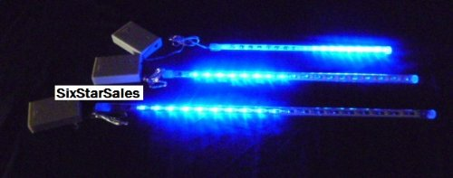 Meteor Rain Shower Blue Lights--1 Piece-12 Inch Tube 18 Led Lights-Battery Operated-Christmas Light