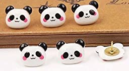 10 Pieces Lovely Panda Pushpins/Drawing Pins For School or Office