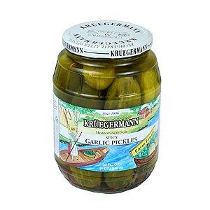 Kruegermann Spicy Garlic Pickles 32 Oz from Kruegermann Pickles and Sauerkraut Inc.