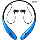 Bluetooth Headphones, Doltech Bluetooth Headsets, Wireless Hand-free Neckband Earbuds For Sport/running/gym/exercise Lightweight Sweat-proof Noise Cancelling Earbud For Cell Phones (Hv900 Blue)
