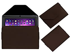 Acm Premium Pouch Case For Vizio Q88 Tablet Flip Flap Cover Holder Brown