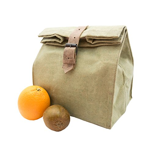 Heavy Duty Waterproof Waxed Canvas All Purpose Bag Handmade by Hide & Drink (Waxed Canvas Lunch Bag compare prices)