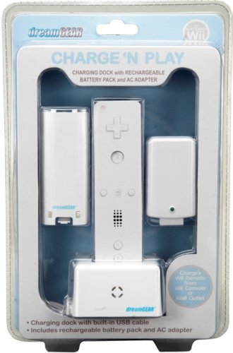 DreamGEAR-Wii Charge N Play White