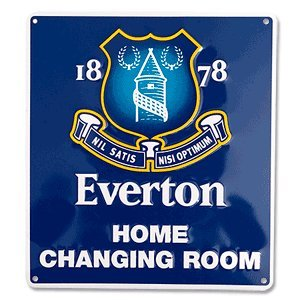Official Everton F.C. Home Changing Room Sign