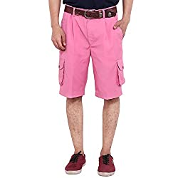 FBBIC Contemporary Pink Men's Solid Short(Size::L)