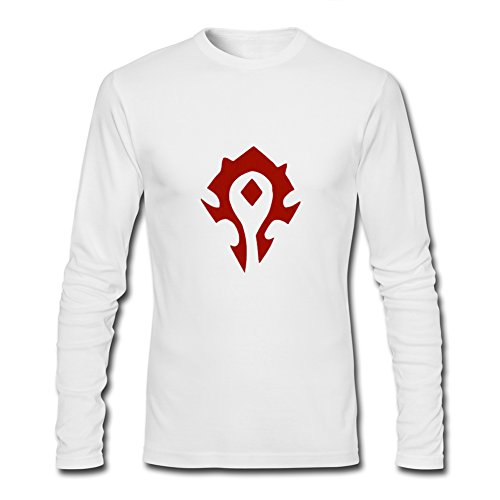 World of Warcraft Horde Symbol Spray For 2016 Mens Printed Long Sleeve tops t shirts