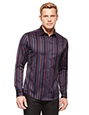 Autograph Pure Cotton Striped Shirt