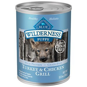 Blue Buffalo Blue Wilderness Grain Free Turkey and Chicken Grill Puppy Recipe Canned Dog Food 12.5oz (Blue Buffalo Canned Puppy Food compare prices)