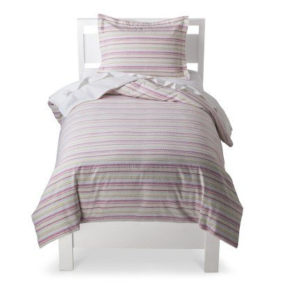 Circo® Novelty Stripe Flannel Duvet Cover - Twin - Bed Accessories - Toddler Bedding - Bedroom Collection - This Is Everyday Style That Makes Sense For Your Life And Your Home. front-907802