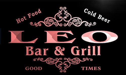 u26163-r-leo-family-name-bar-grill-home-beer-food-neon-sign-enseigne-lumineuse