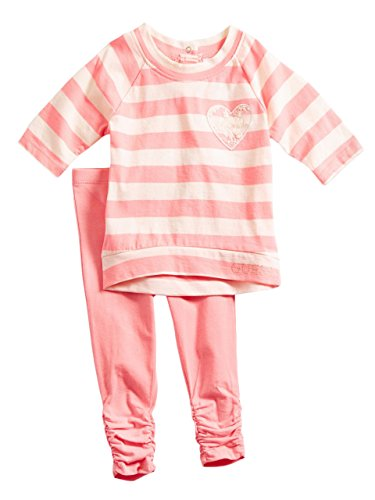 GUESS Kids Baby Girl Striped Top and Leggings Set (12-24M)